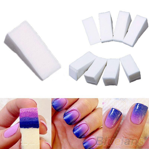 32 Pcs Hot Beauty Nail Sponges For Acrylic Manicure Gel Art Care Diy Uv Tool