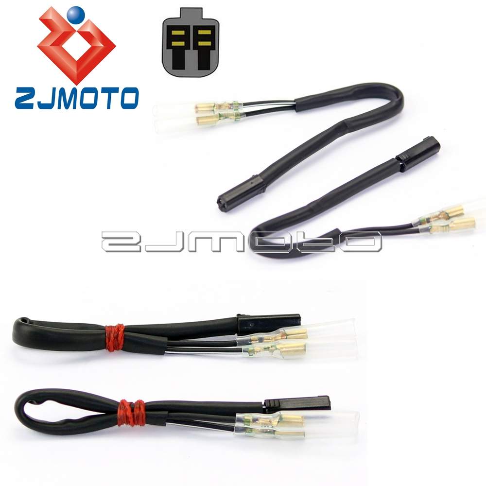 4 pcs oem turn signal wiring adapter harness connectors 2 wire for suzuki gsxr 650f dl1000