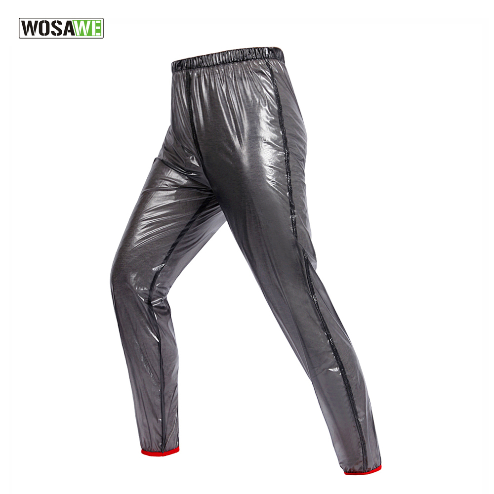 WOSAWE Men Women Outdoor Sports Rain Pants Cycling Bicycle Running Waterproof Windproof Pants MTB Road Bike Trousers Clothing