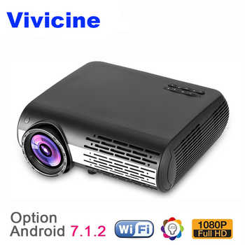 VIVICINE 1080p HD Projector,Option Android 7.1 WiFi Bluetooth Home Theater LED Video Game Projector Beamer 5500Lumens Proyectors - DISCOUNT ITEM  40% OFF All Category