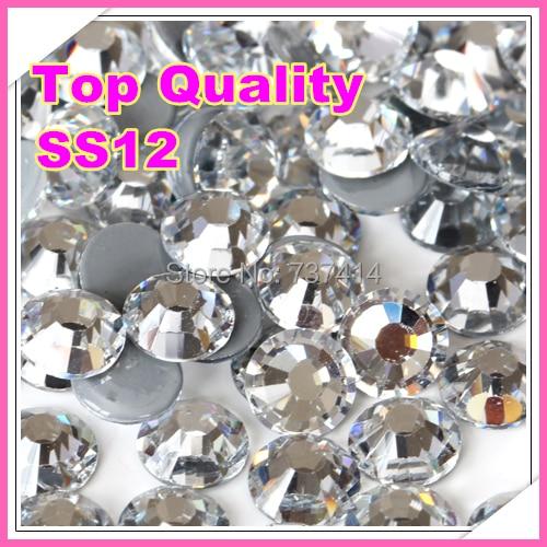 모조리! SS12 최고 품질의 핫 픽스 모조 다이아몬드 - 예술, 공예, 바느질