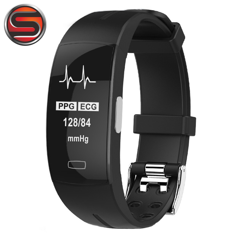 SOVOGU B37 High blood pressure Smart band heart rate monitor PPG+ECG bracelet fitness tracker Intelligent GPS Smart Wristband