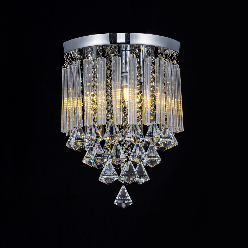 simple Crystal circular led ceiling lamp living room lamp led bedroom lamp entrance corridor lighting ceiling light ZA923154 цена