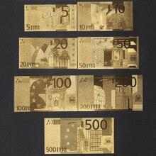 Collection Souvenir Fake Money Euro Us 7 Sheets Sets