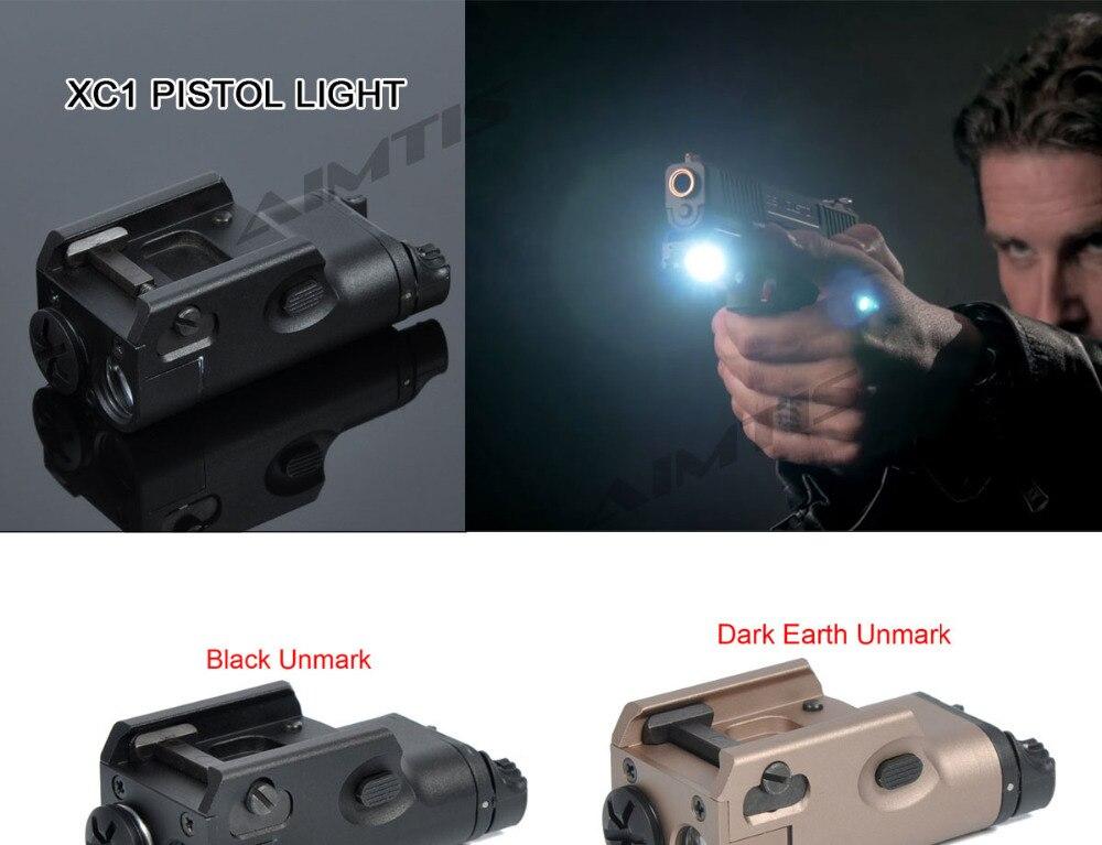 Xc1 tático pistola luz mini lanterna led