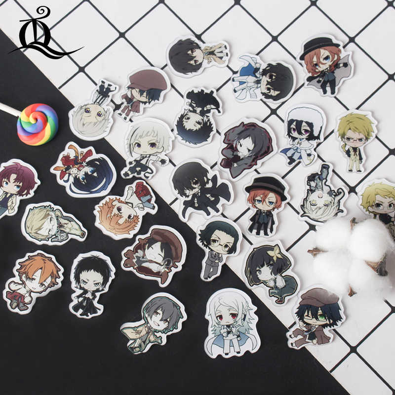 1 PC MIX bungou stray dogs Cartoon Acrylic Badges Kawaii Badge Icons on The Backpack Badges for Clothes Handbag Pin Brooch Z68