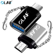 OLAF Micro USB OTG Adapter Male to USB 3.0 Charge Data Converter For Samsung S7 Xiaomi Huawei LG ZTE google Android Microusb OTG(China)
