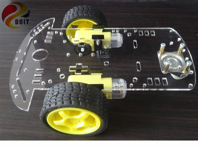 все цены на Official DOIT Arduino Intelligent Car Robot Chassis with Speed Encoder DIY RC Toy Remote Control Atmega Uno R3 Raspberry Pi