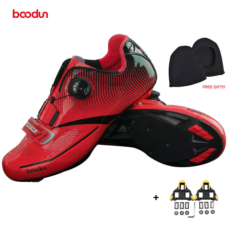 BOODUN New Men Professional Road Bike Shoes Anti-slip Self-locking Cycling Shoes Sports Racing Shoes Sapatos de ciclismo santic new design cycling shoes men outdoor road bike shoes self locking shoes non slip bicycle shoes sapatos with 3 colors
