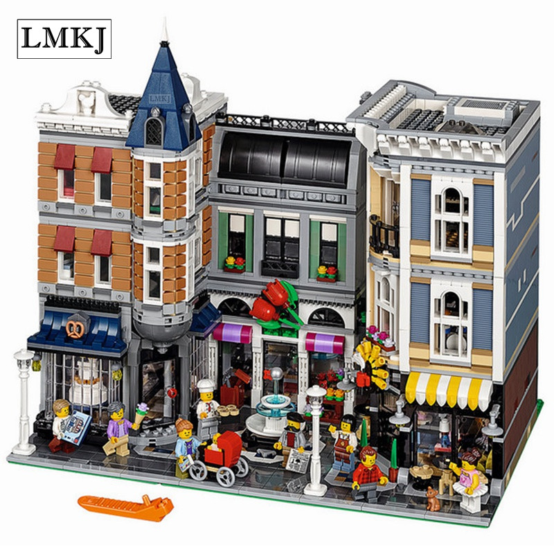 Lepin 15019 MOC Creative Series The Assembly Square Set Building Blocks Bricks Toys for Children Compatible with Legoingly 10255 new lepin moc creative series the assembly square set building blocks bricks boy toys compatible educational figures model gifts