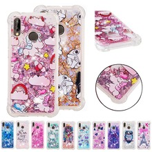 LUCKBUY Soft TPU case For Huawei P8 P10 P20 Lite Plus Y3 Y5 Y7 Enjoy 6s P Smart Mate 10 Pro Liquid Glitter Quicksand Case