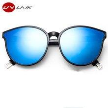 UVLAIK Fashion Brand Designer Cat Eye Women Sunglasses Oversized Sun Glasses Cat eye Vintage Female Eyewear Goggles