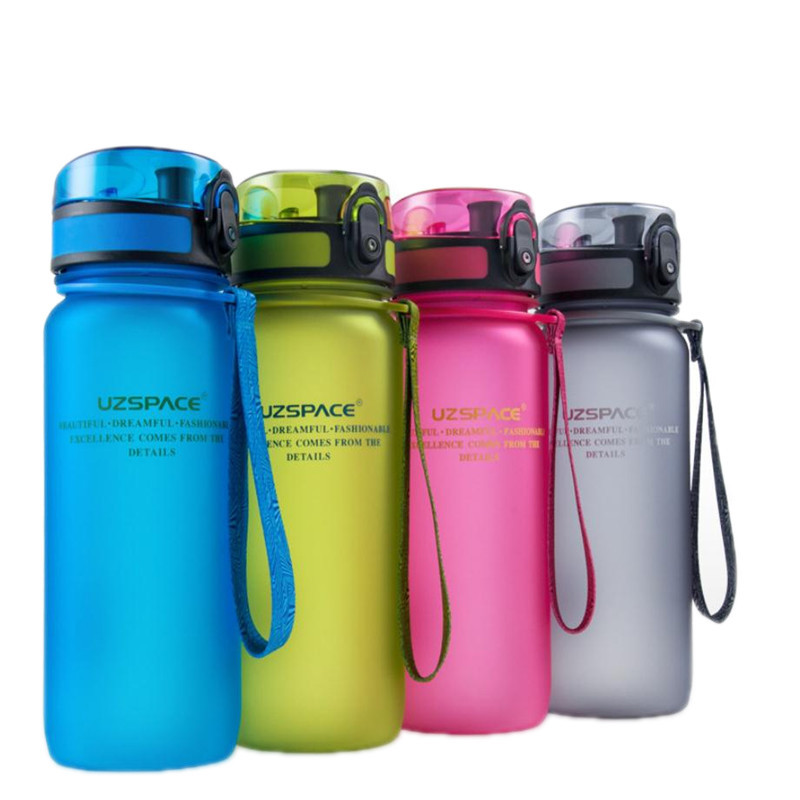 Hifuar 1PC BPA Free Leak Proof Sports Water Bottle High Quality Tour Hiking Portable Bottles For Water Travel Sports Drinkwawe