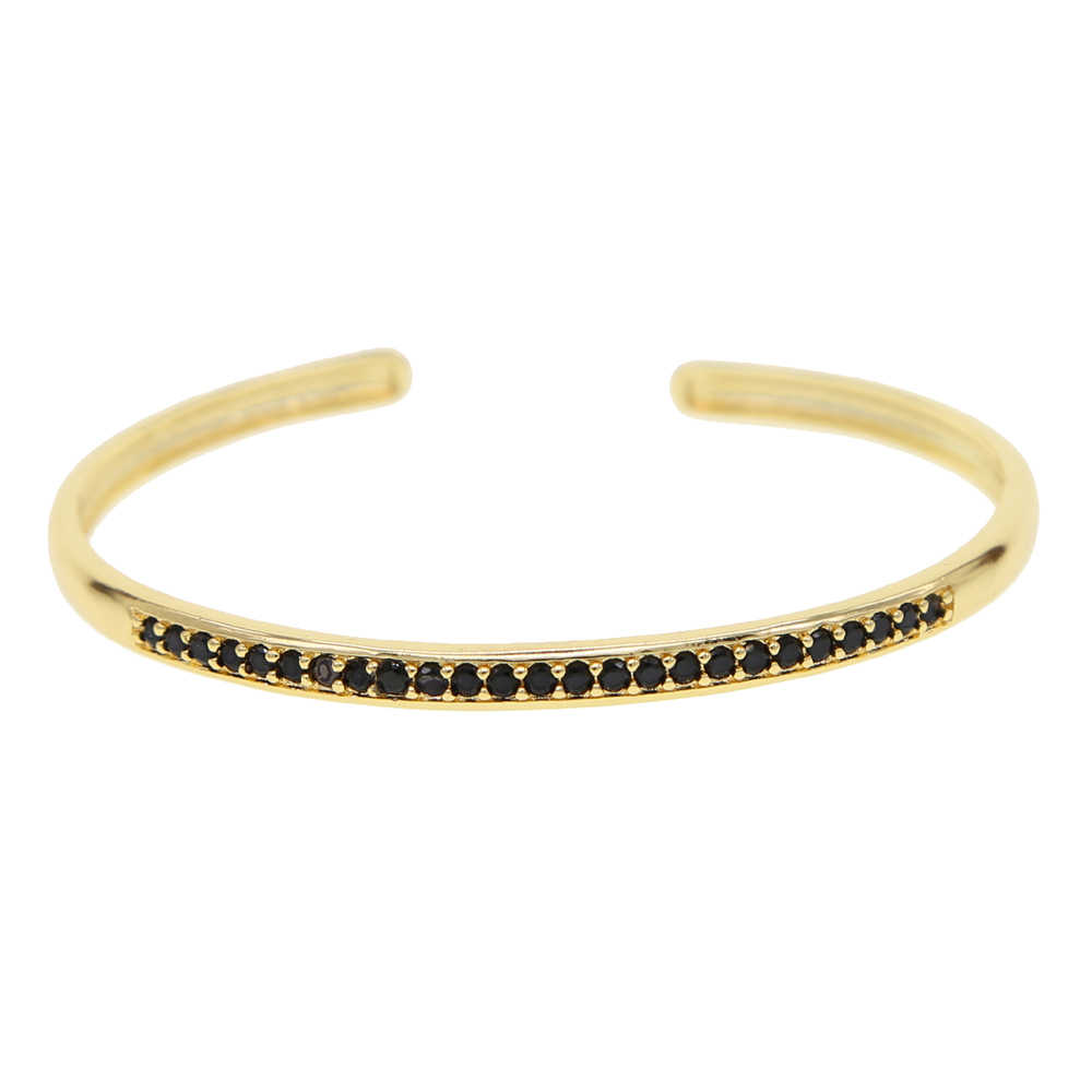 Fashion Lady Girls Red Garnet Crystal White Gold Filled Pearl Bangle Open Cuff