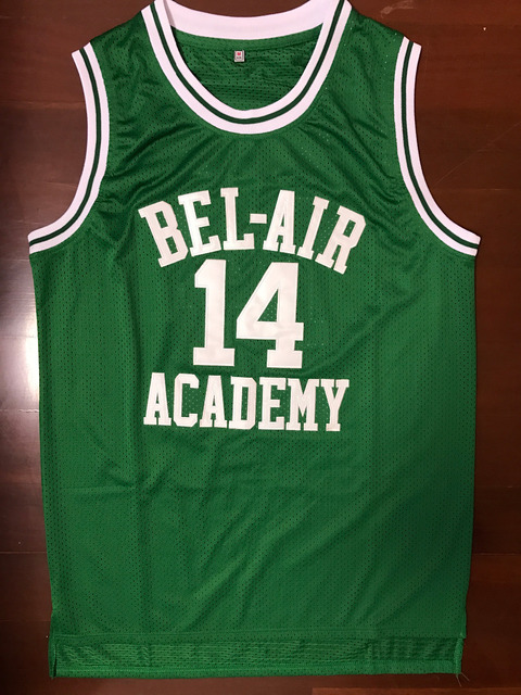 The Fresh Prince Of Bel Air Academy Jersey  14 Will Smith Green Mens jersey  All Stitched 021c579a5