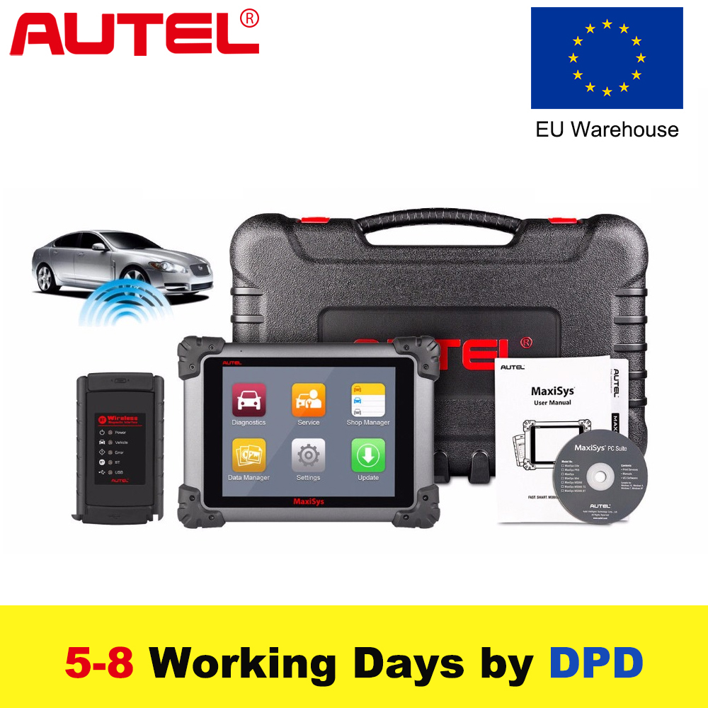 Autel MaxiSys Pro MS908/ MS908 with J2534 Car Diagnostic OBD2 Scanner Wireless Car Repair Tool Vehicle Programming Scanner цена