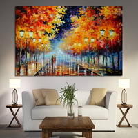 Big Size Abstract Posters ans Prints Street Art Canvas Painting Landscape Oil Painting on Canvas Wall Picture for Living Room