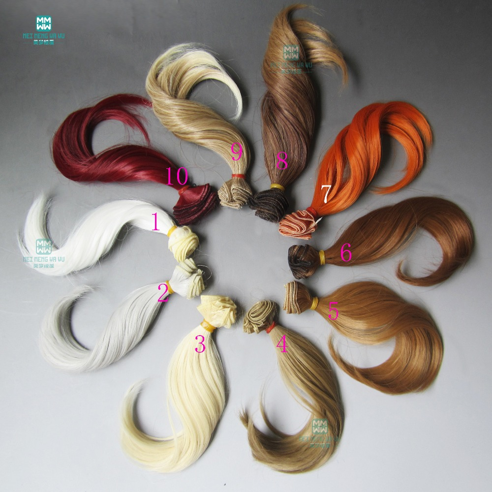 15cm*100CM Big bend wave curls hair for dolls 1/3 1/4 1/6 BJD/SD DIY doll wig
