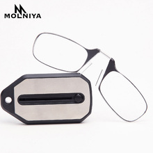No Leg Clip Nose Reading Glasses Portable For Both Men And Women Mini Key Chain Presbyopia