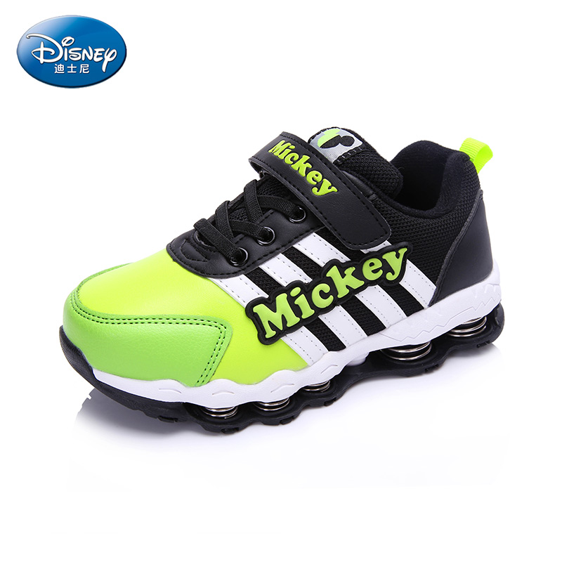 Disney Children's Spring Type  Sole Mickey Shoes Sneakers Boy Leisure Trainers Casual Breathable Kids Running Shoes DS2088 dinoskulls new kids sport shoes children sneakers breathable leather boy running shoes 2018 girls leisure casual shoes