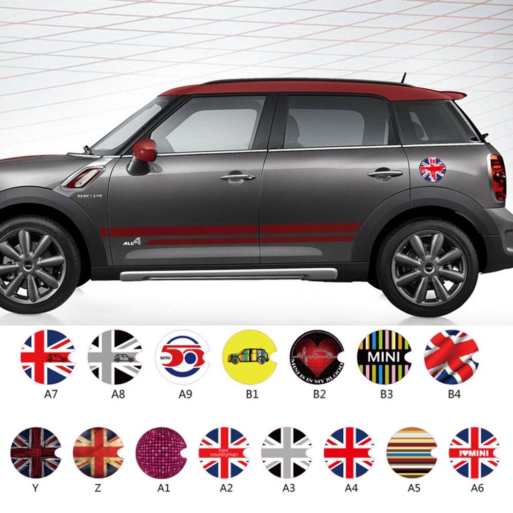 aliauto car accessories fuel tank cap sticker oil tank decals for mini cooper countryman cabrio. Black Bedroom Furniture Sets. Home Design Ideas