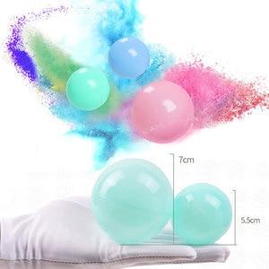 Image 5 - 100 قطعة/الوحدة صديقة للبيئة الملونة الكرة لينة البلاستيك المحيط الكرة مضحك طفل طفل السباحة حفرة لعبة المياه بركة المحيط موجة الكرة ضياء 5.5 سنتيمتر