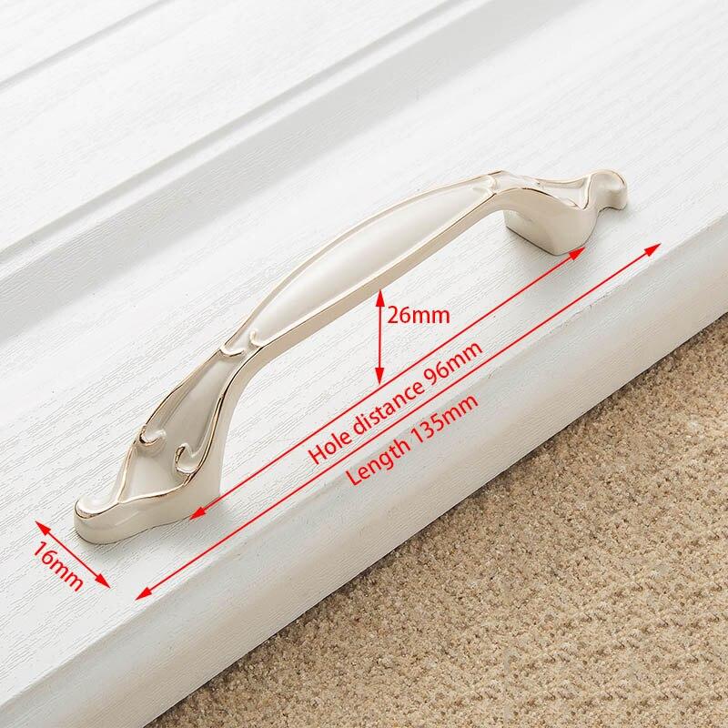 KAK цинк Aolly цвета слоновой кости ручки для шкафа кухонный шкаф дверные ручки для выдвижных ящиков Европейская мода оборудование для обработки мебели - Цвет: Handle-8806-96