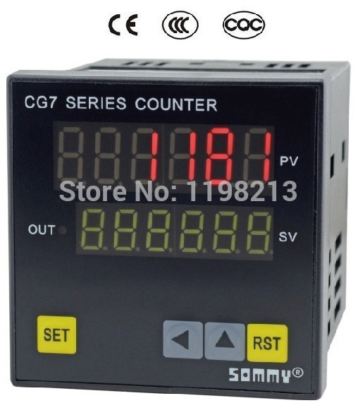 CG7-RB60 digital couters CG series Multi-function Counter 6-digit counting relay output  цены