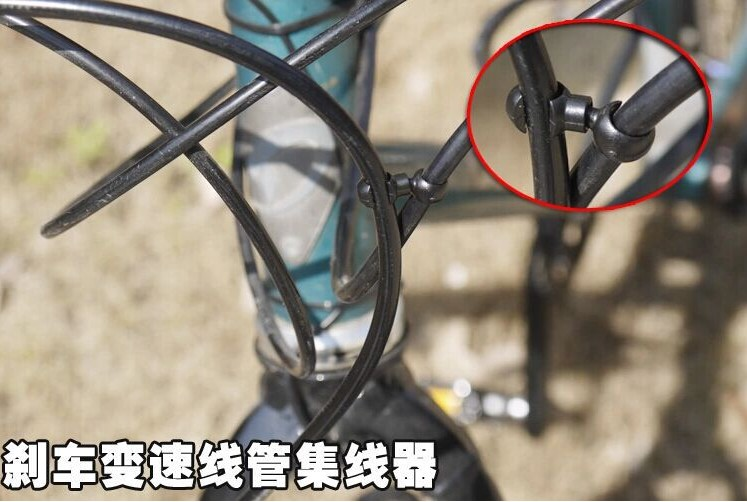New products S Style nylon bicycle brake shift cable housing hubs clips