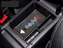 Стайлинга автомобилей Подлокотник перчатки коробка для хранения Организатор Дело 2009 2010 2011 2012 2013 2014 2015 для Volkswagen VW Tiguan аксессуары