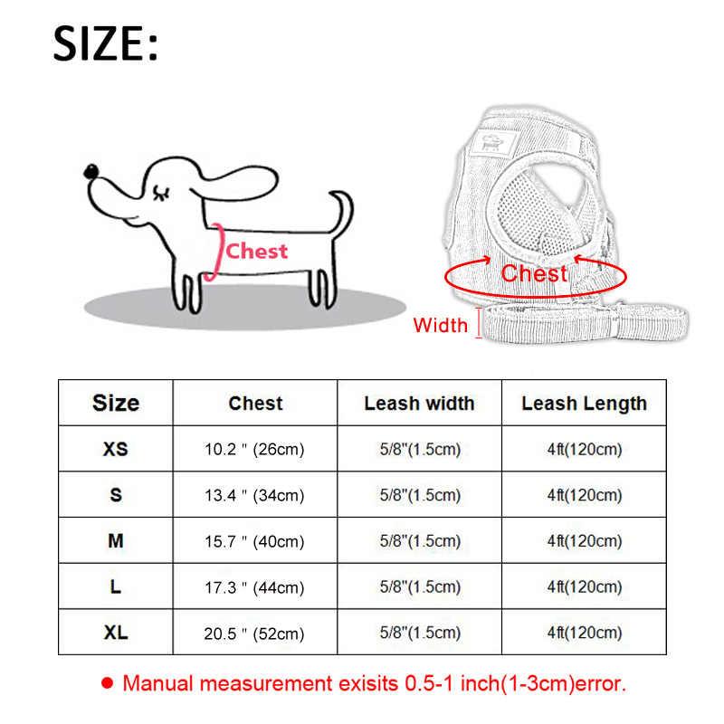 犬猫ハーネスベスト調節可能な歩行リードリーシュ子犬犬フレンチブルドッグチワワ反射ソフト犬の首輪ハーネス