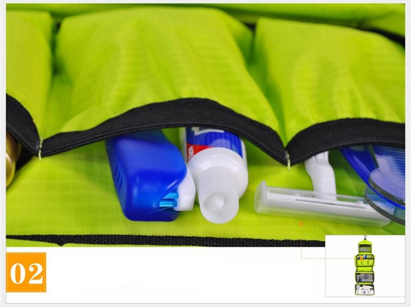 Image 4 - Travel Cosmetic Bag Men Wash Shaving Bag Waterproof Women toiletry Storage Large Capacity Vanity organizer toilet bag makeup kit-in Cosmetic Bags & Cases from Luggage & Bags