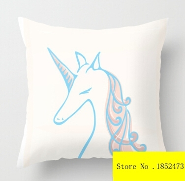 """Cool Unicorn (two sides) Pillow Cases  for 12 """"14""""16""""18"""" 20×20 24×24 inch free shipping"""
