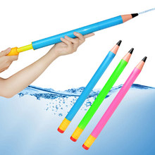 1PC Plastic Pencil Water Guns Kids Pistol Blaster Summer Swimming Pool Beach Outdoor Shooter Toy Sprinkling Toys For Children(China)