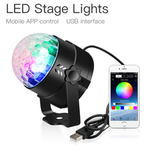 LED Disco Ball Lights With USB Bluetooth Remote Control DJ Stage For Sound Party Home Auto Rotating Lamp