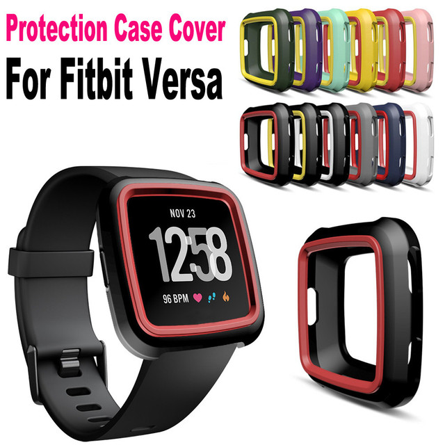 US $1 59 32% OFF|Silicone Protective Cases For Fitbit Versa Colorful Soft  TPU Protection Silicone Full Case Cover New Fashion l102#2-in Smart