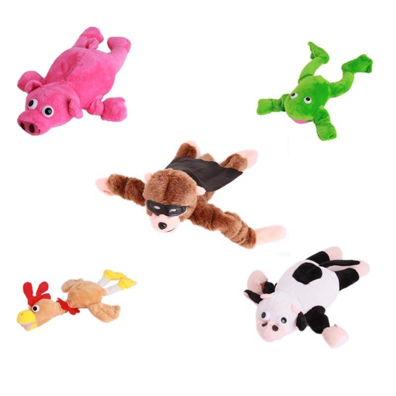 Flying Slingshot Plush Screaming Monkey Brown Bands Toys Funny Toy Cute Animal Gifts New Gift Flingshot Kids Cartoon