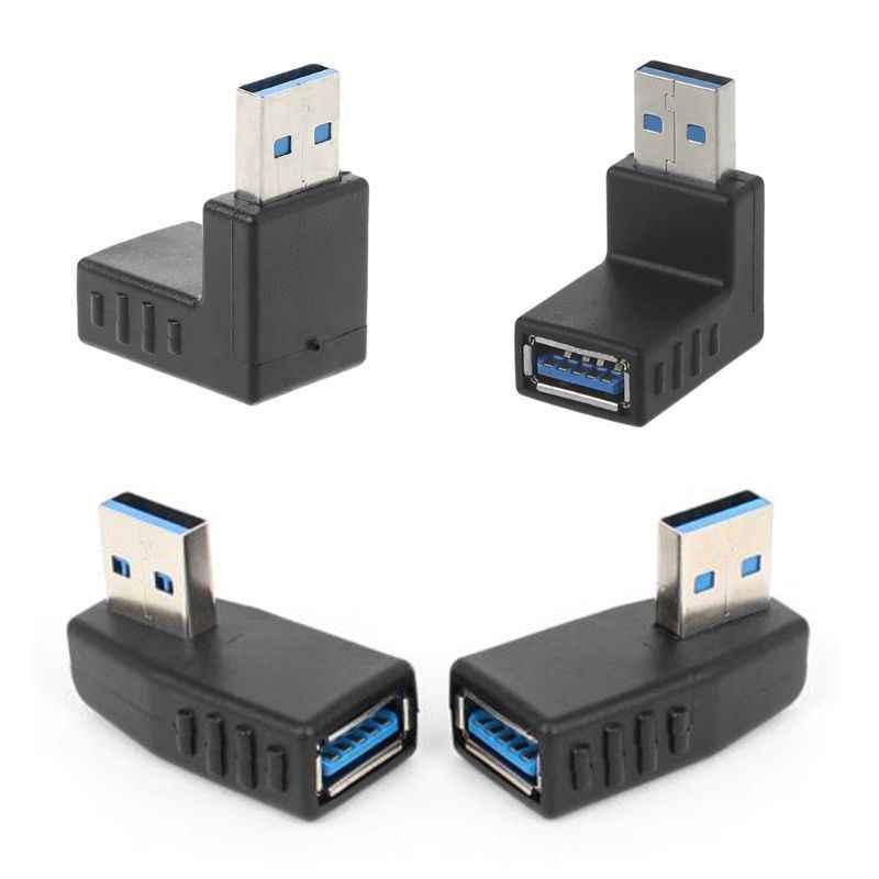 90 Graden Links Haaks Usb 3.0 A Male Naar Vrouwelijke Connector Adapter Voor Laptop Pc #221