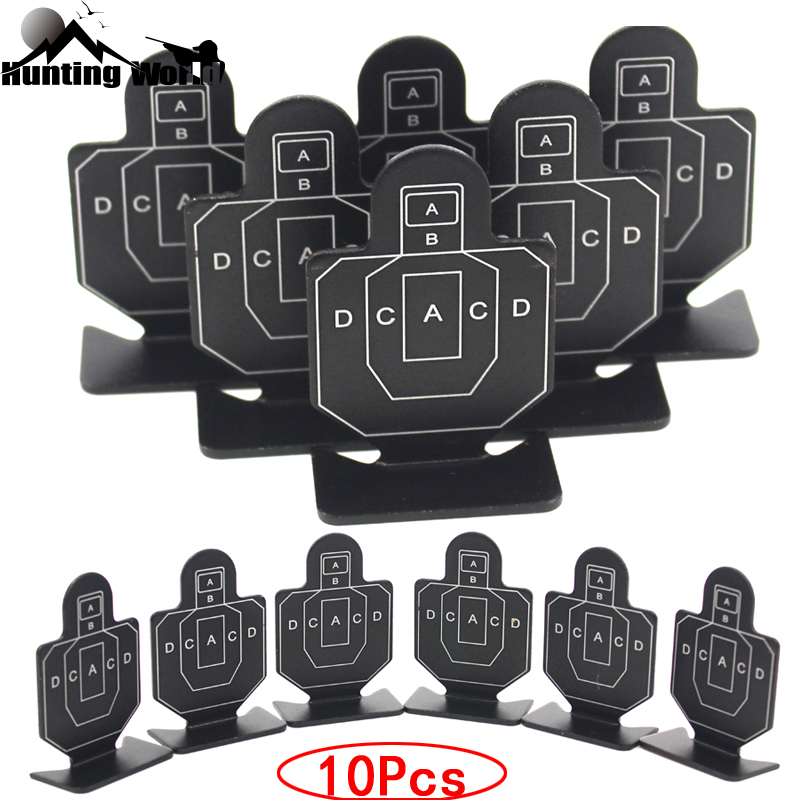 Tactical 10Pcs Metal Shooting Soldier Targets Set For Hunting Airsoft Paintball Archery Slingshot Catapult Practice Accessory