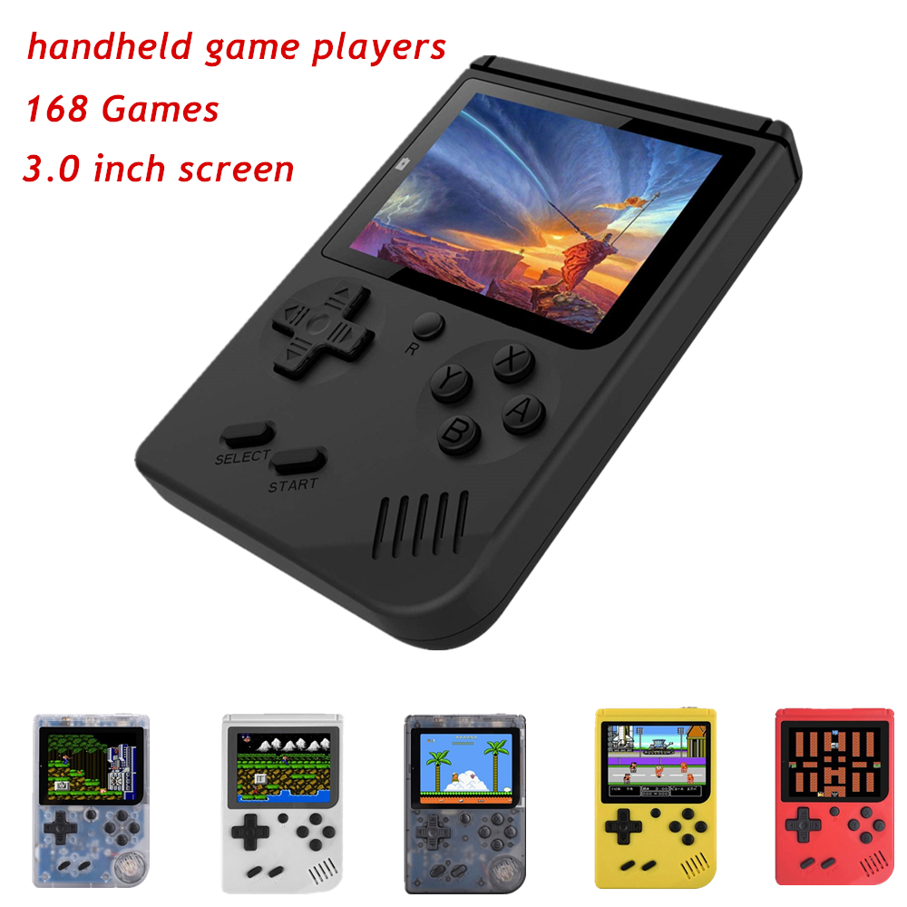 MINI Portable Retro Video Console Handheld <font><b>Game</b></font> Advance Players <font><b>Boy</b></font> 8 Bit Built-in 168 <font><b>Games</b></font> Gameboy 3.0 Inch <font><b>Color</b></font> LCD Screen image