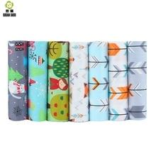 Shuanshuo  7pcs/lot New Cartoon Series Cotton Patchwork Fabric Fat Quarter Bundles For Sewing Doll Cloths 40*50cm