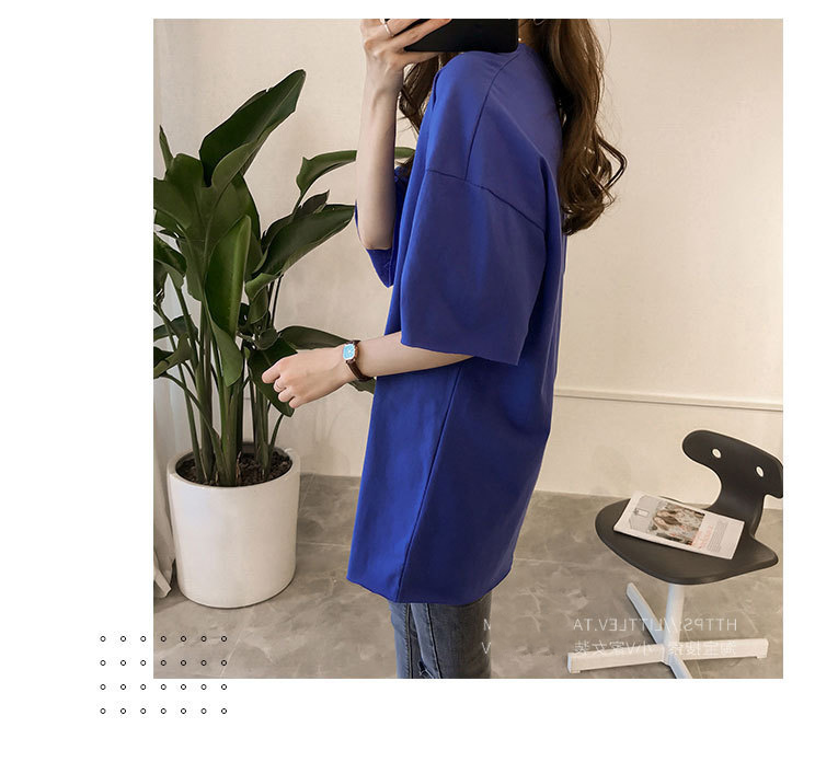 Candy Color Short Sleeve Loose T-Shirts Girls Summer 19 New Cool O-Neck Boyfriend Student Women T-Shirt Lady Tops Plus Size 19