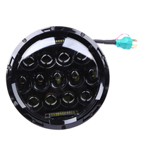 1 Pc Black 7 Inch Round Hi Low Beam Headlamp With DRL Led Headlight For Wrangler