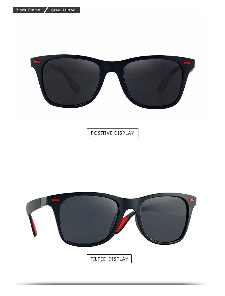 VESTEY Clássico DESIGN DA MARCA Óculos Polarizados Óculos de Sol Das  Mulheres Dos Homens de Condução Óculos de Sol Quadrado Quadro Masculino  UV400 Goggle ... 2e5d3cde29
