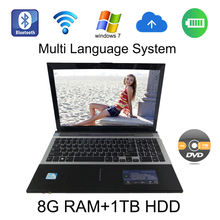 2017 Brand New windows 7/8 system 15.6 inch laptop Intel Celeron J1900 2.0GHz 8G ram 1TB HDD in camera with DVD-RW