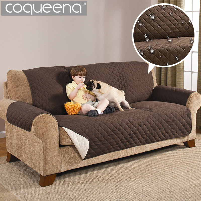 Waterproof Quilted Sofa Couch Covers Cloak Furniture