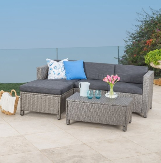Garden Furniture Bistro Rattan Sofa Set