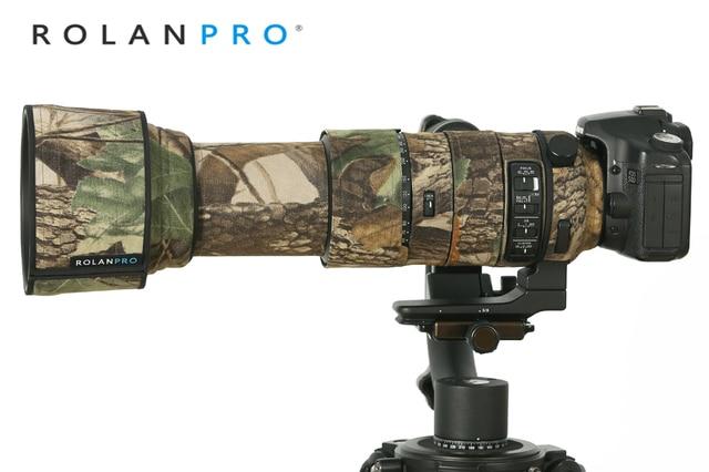 ROLANPRO imperméable lentille Camouflage manteau couverture de pluie pour Sigma 60 600mm f4.5 6.3 DG OS HSM Sport lentille étui de protection pistolets tissu