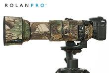 Rolanpro capa de chuva camuflada para lentes, à prova dágua, para modelos sigma 60 600mm f4.5 6.3 dg os hsm, esportes capa protetora para lentes, pano