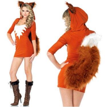 New Halloween Fur Animals  Cute Big Tail Small Fox / RPG Animal / Game Uniforms